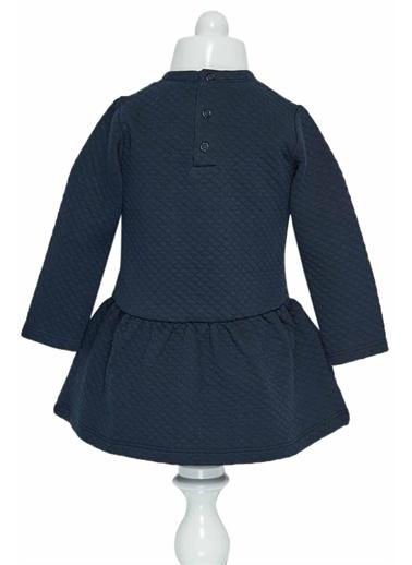 Çikoby Çikoby Kız Bebek Nakışlı Belden Büzgülü Elbise 6-36 Ay C19W-CK1678 Renkli